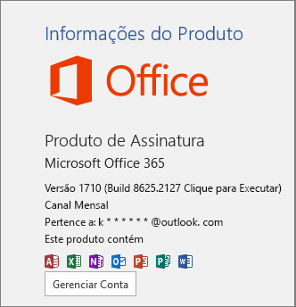 Compilação normal do Office 365