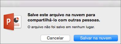 Salvar na Nuvem do PPT para Mac