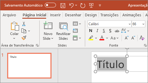 Formatar texto do PowerPoint