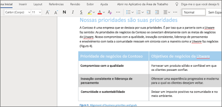 Formatar texto no Word Online