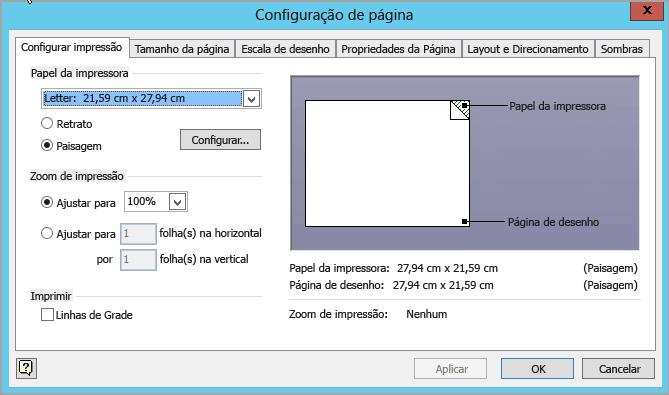 Guia Configurar impressão