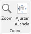 Grupo de zoom da faixa de opções do PowerPoint