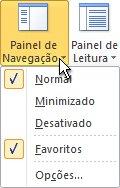 Comando Painel de Navegação na faixa de opções