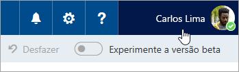 Captura de tela do botão de imagem do perfil