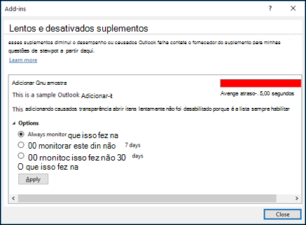 Desabilitar o Outlook Adicionar-ins_C3_2017912141729