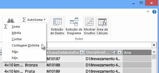 criar uma Contagem Distinta no PowerPivot