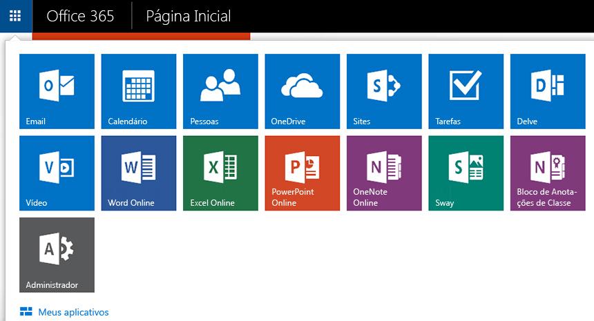 Captura de tela do inicializador de aplicativos