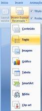Inserir um espaço reservado para caixa de texto
