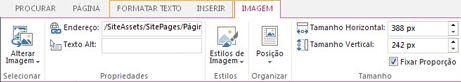 Opções de edição de imagem