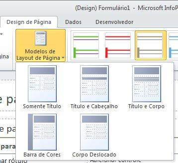 Dispor um formulário do InfoPath 2010