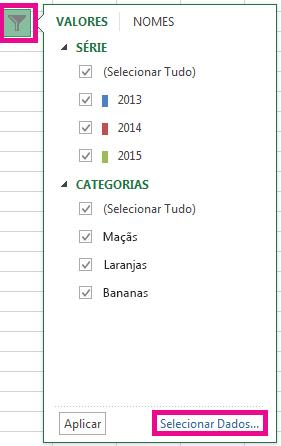 """Clique em """"Selecionar Dados""""."""