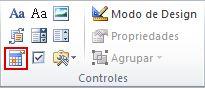 Controle de conteúdo do selecionador de data