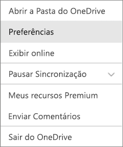 Centro de atividades no OneDrive para Mac