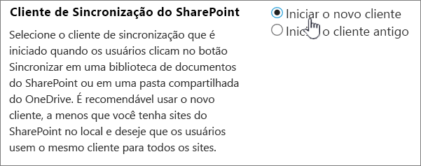 Configuração de administrador para o cliente de sincronização do OneDrive