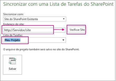 Salvar projeto no SharePoint