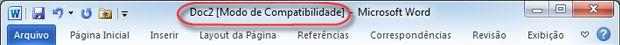 abrir uma versão anterior do documento no modo de compatibilidade