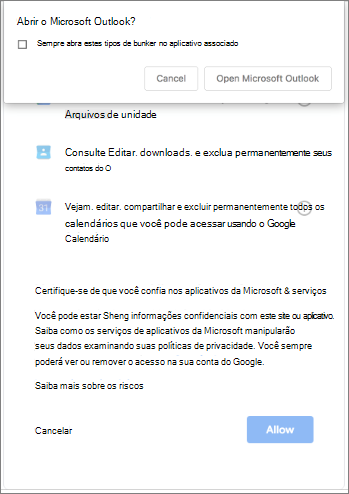 abrir o Outlook