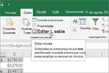 Editar links