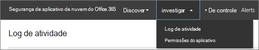 No portal do Office 365 autoridades de certificação, escolha investigar.