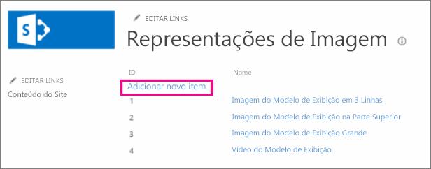 Captura de tela de Adicionar novo item