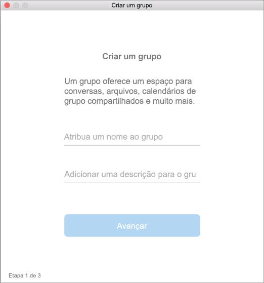 Exibir criar uma interface de usuário de grupo no Mac
