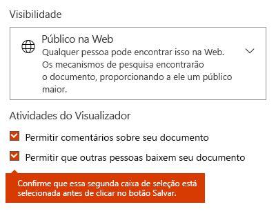 Opção para download de documento no Docs.com