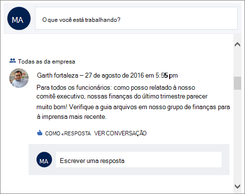 Web Part do Yammer