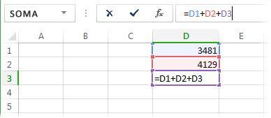 Uma fórmula que causará uma referência circular