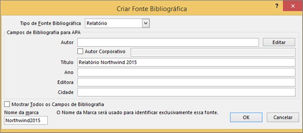 As opções na caixa de diálogo Criar Fonte são exibidas