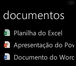 Exibir documentos da área de trabalho no Windows Phone quando Office remoto está em execução