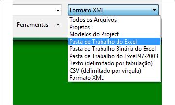 Selecione qual pasta de trabalho do Excel abrir para os dados