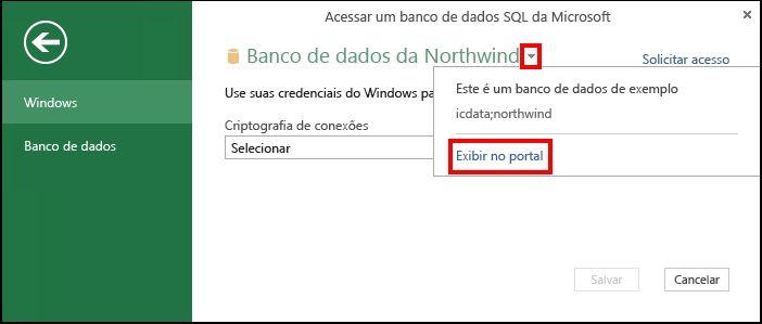 Exibir informações da fonte de dados no portal