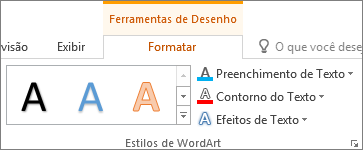 Grupos Estilos de WordArt