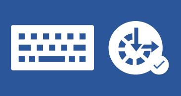 Teclado e ícone para facilidade de acesso