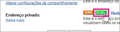 Google Calendar - Criar iCal privado