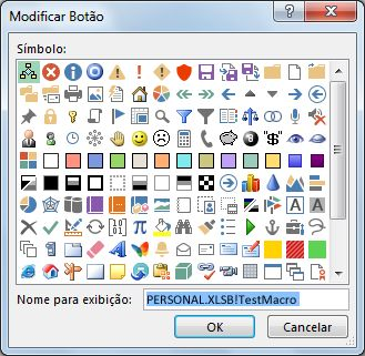 Caixa de diálogo Modificar Botão
