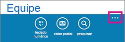 Toque nos três pontos na parte inferior da tela para mostrar o menu mais configurações