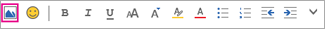 Inserir uma imagem da barra de menus Formatar