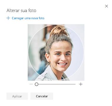 Tela com opção para alterar sua foto de perfil
