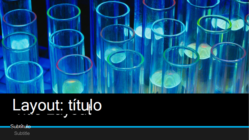 Captura de tela da capa de uma apresentação de laboratório