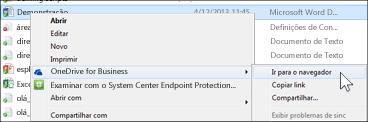 Exibir um arquivo de uma pasta sincronizada em um navegador da Web
