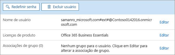 Edite a atribuição de licenças de um usuário.