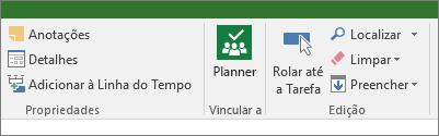 Imagem do botão do Planner na faixa de opções Tarefa