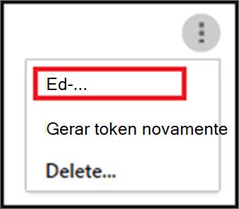 Para editar seu agente SIEM, escolha as reticências e escolha Editar.