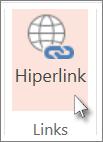 Na guia Inserir, clique em Hiperlink.