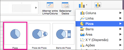 Seletor de Tipo de Gráfico do Office para Mac