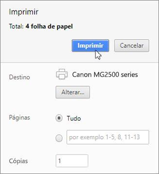 Clique em Imprimir