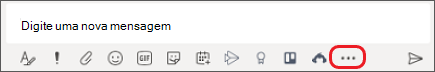 Caixa onde você digita mensagens no Microsoft Teams