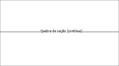 Mostra uma quebra de seção em um documento