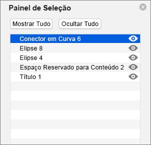 Mostra o Painel de Seleção no PowerPoint 2016 para Mac